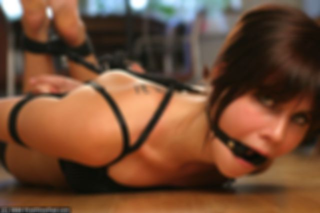 ELISABET HOGTIED AND RING GAGGED THE VERY FIRST TIME