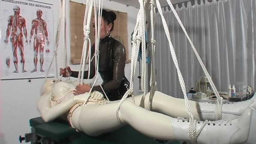 Crazy Rubber Mumification Bondage