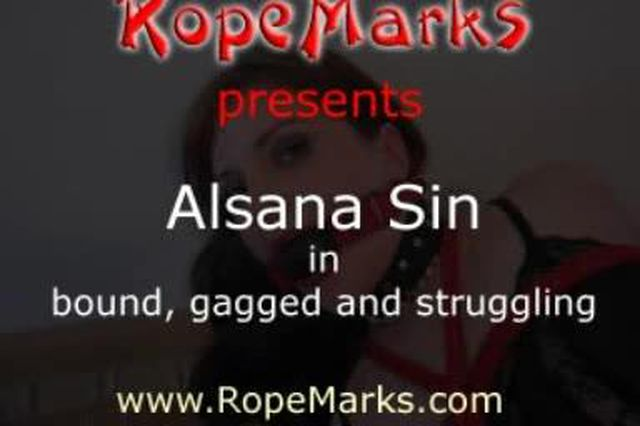 Alsana Sin bound, gagged and struggling