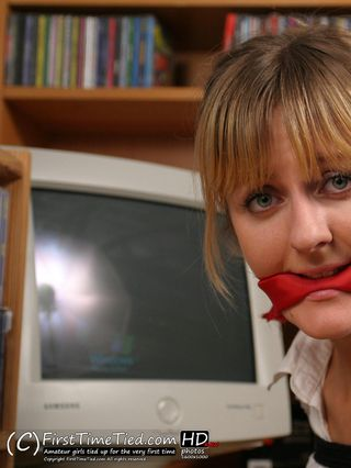 Anki the secretary tied up and cleave gagged at the office - 2