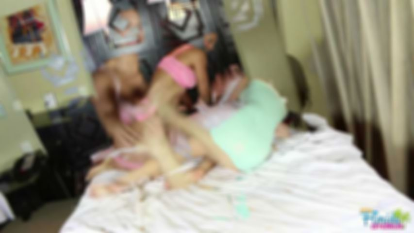 Amateur Latina Sisters Vivian And Tia Camacho Topless Tickling - HD Video