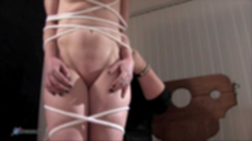 Aubrey's Hard Education With Rope And Hot Wax