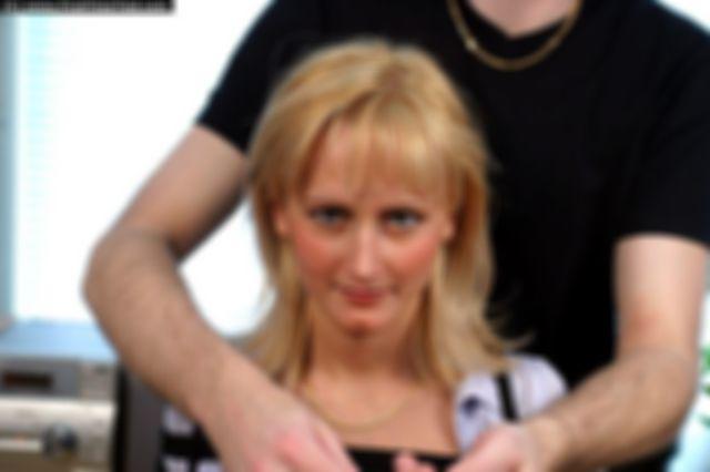 SARA HARNESS TIED AND BALLGAGGED TOPLESSS