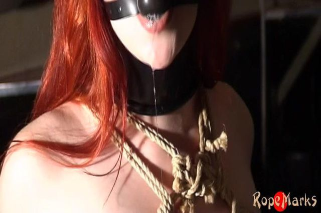 A sensual red head drooling at the bar - video