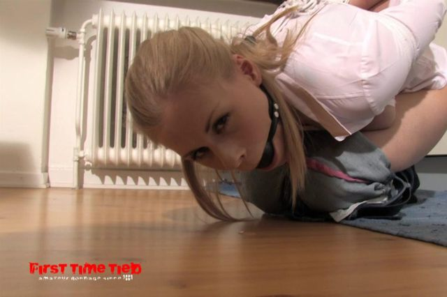 DONNA NAKED, TIED, GAGGED AND DOMINATED IN THE KITCHEN