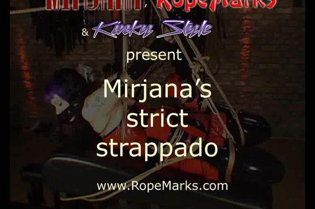 Miss Mirjana in einem engen Strappado