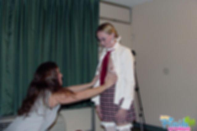 Teen Chynna Disciplines Schoolgirl Candy