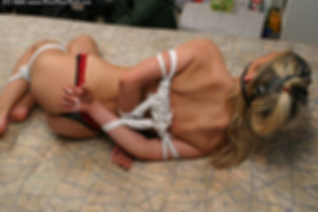 TESS TIGHTLY HARNESS TIED, LEGS FROGTIED AND HARNESS BALLGAGGED