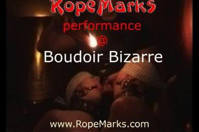 RopeMarks Performance auf der Boudoir Bizarre