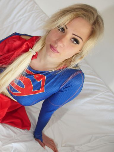 Pictures of Gabi gold with Supergirl costume