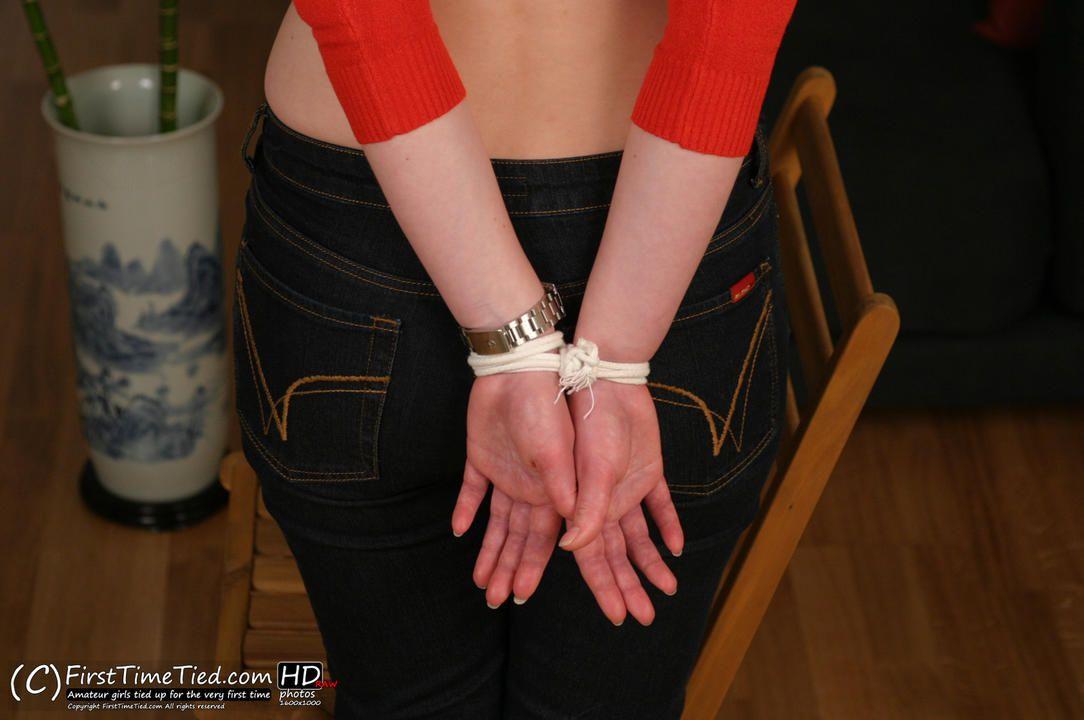 Nina tied up topless and ballgagged - 3