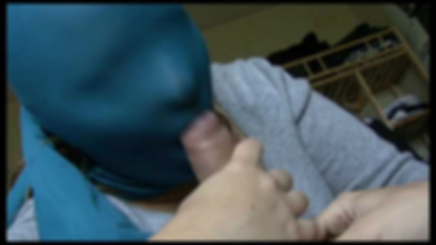 4 Blue encasement nylon mask blow 1