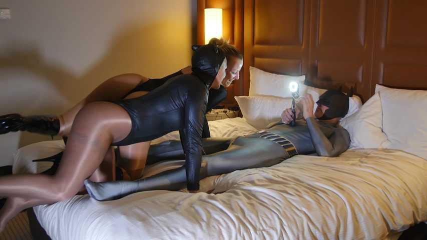 149 Lolly Glams & Natacha Guapa with Shinny Tan pantyhose