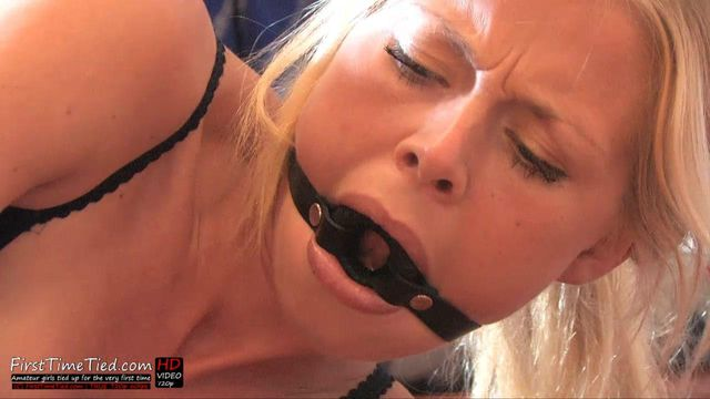 PAULA REVERSE HOGTIED IN UNDERWEAR - RING GAGGED AND STRUGGLING