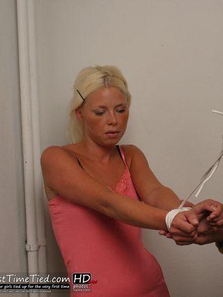Paula tied up by masked burglar - 1