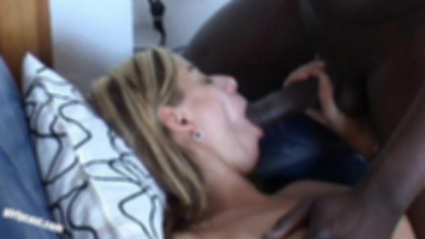 Sweet Melanie first BBC & Threesome while her boyfriend is watching