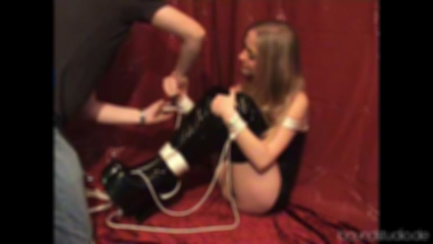 Lace-Girl Julie - Bound and gagged