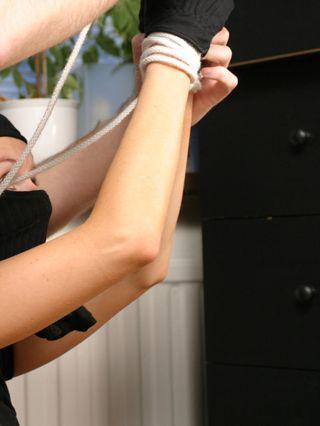 Anki the burglar caught and captured in ropes - 1