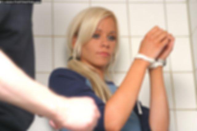 CECILIA TIED UP IN THE BATHROOM