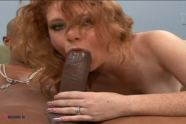 Black & White - Redhead Nymphomaniac Lucy Fire Rides Up BBC
