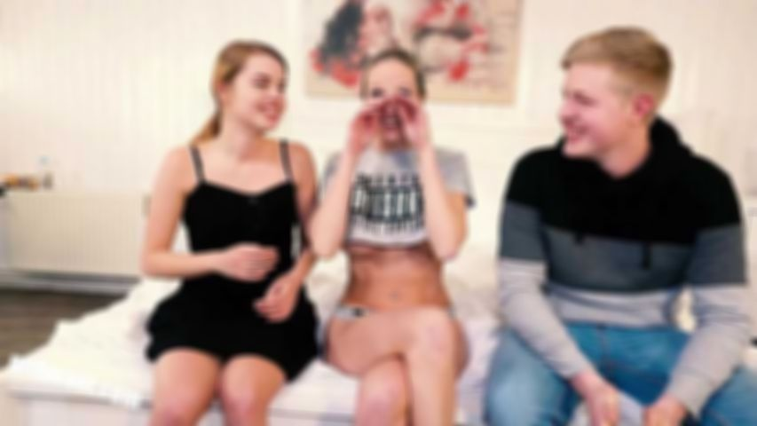 Sweet Teen Jamie first threesome - Part 1