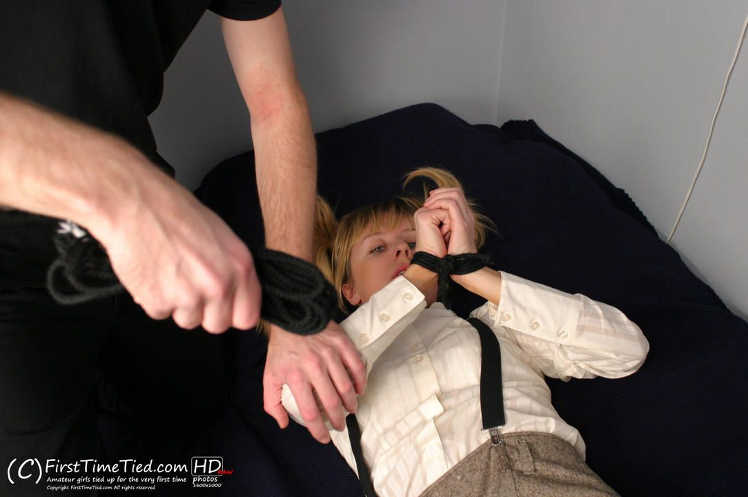 Anki tied up at home by masked burglar - 1