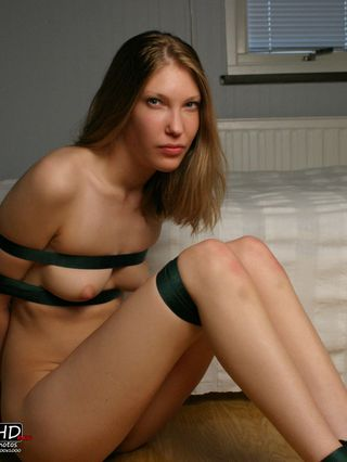Liz strap-tied totally naked and exposed - 1