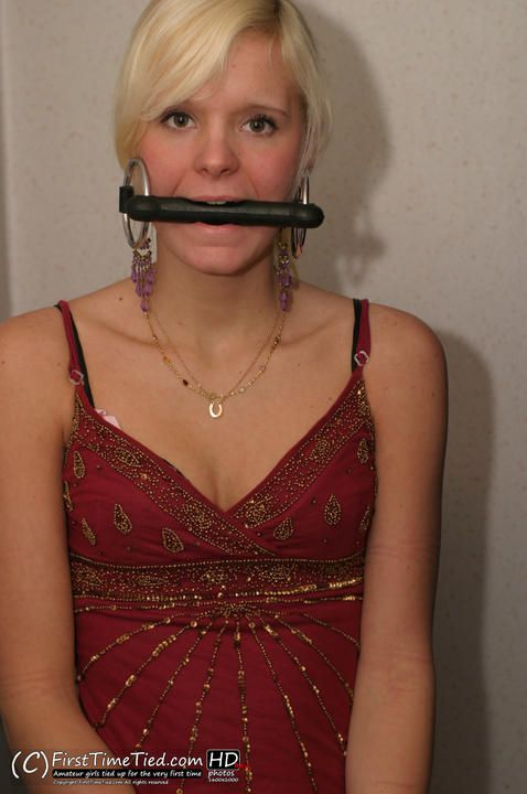Mikaela handcuffed and bit gagged in the shower - 2