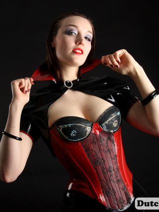 Wearing Lady Oops Latex