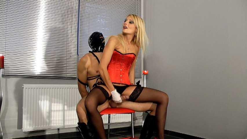 Natalie Black - Slave is flogged and milked for reward