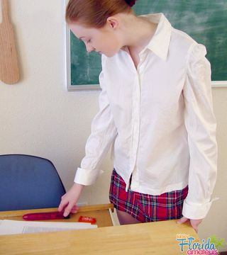 Hairy School Girl Teen Nichole Gets Spanked By Her Teacher