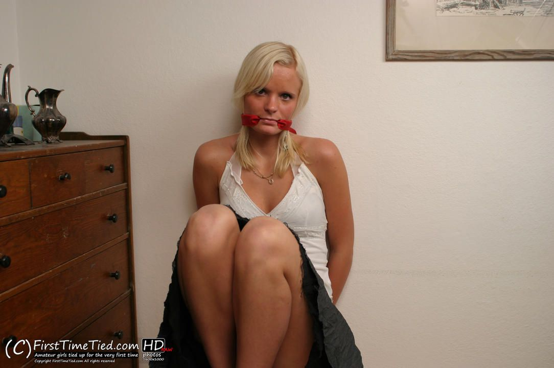 Mikaela handcuffed and cleave gagged for the very first time - 3