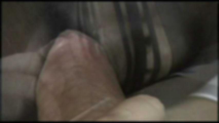1 Black Nylon Fantaisy Blow Job und Sperma