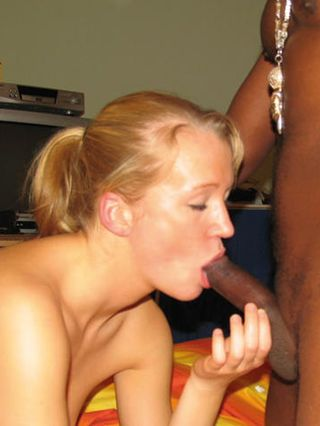 Teen Anna's first big black cock - photos