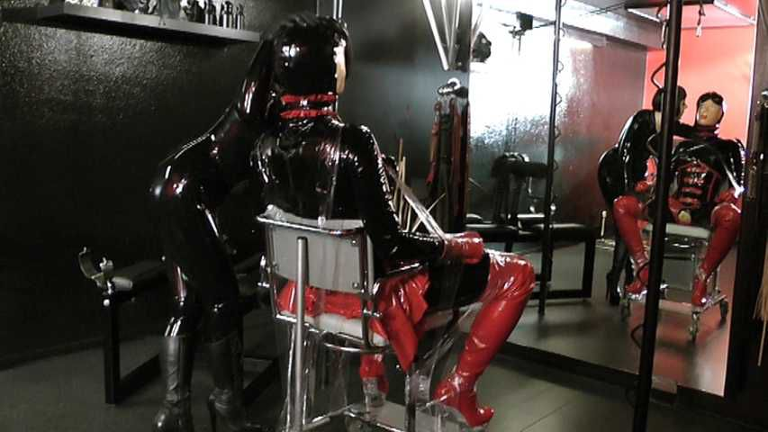 Madame Zoe - Rubber Doll Bondage Part2