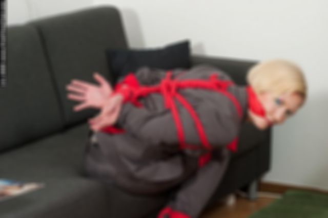 MONICA THE SECRETARY TIED UP, TAPE-CLEAVE GAGGED AND DOMINATED