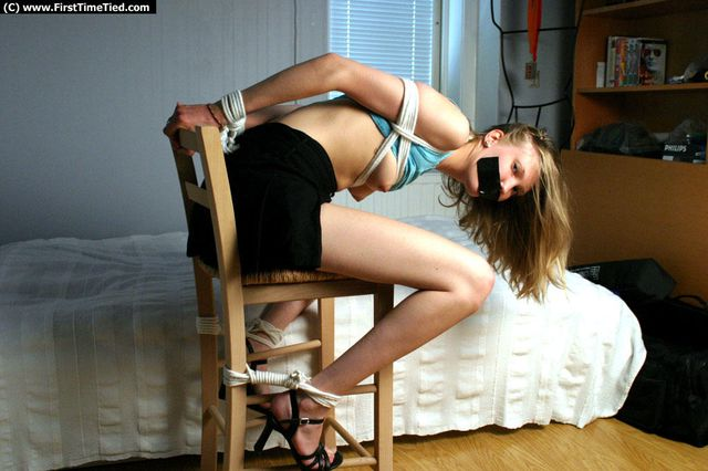 LIZ CHAIR TIED NAKED AND TAPEGAGGED