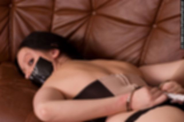 JILL HANDCUFF-HOGTIED AND TAPE GAGGED