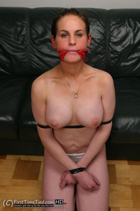 Elin tape tied and cleave gagged topless - 1