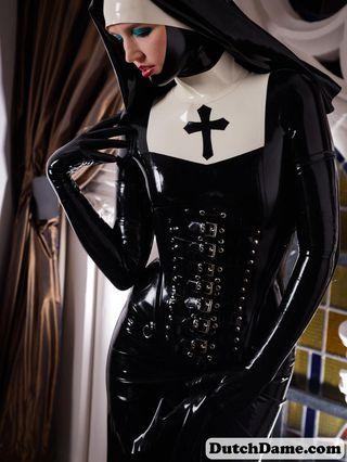 Dressed as nun