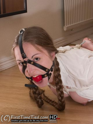 Marie the schoolgirl tied up at home - 3