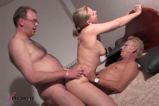 Younger Woman Wants To Bang With Two Older Guys
