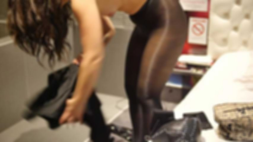 109 Outtakes of Norah Luxia in Black Pantyhose Catwoman