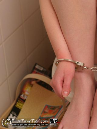 Nina handcuffed in the bathroom - 1