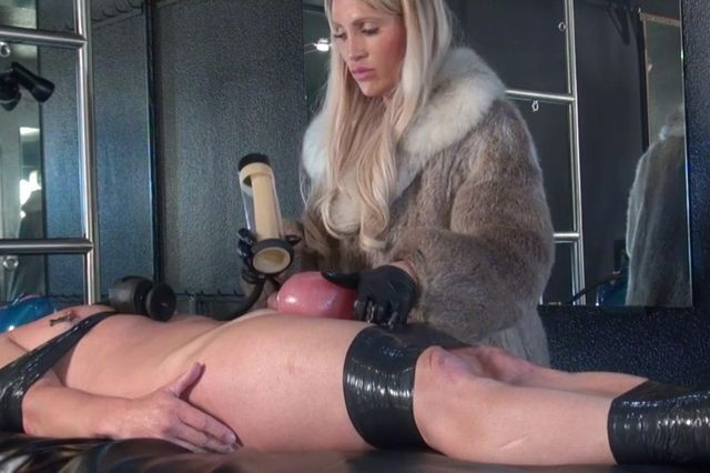 Pumped Balls Milking Machine Handjob