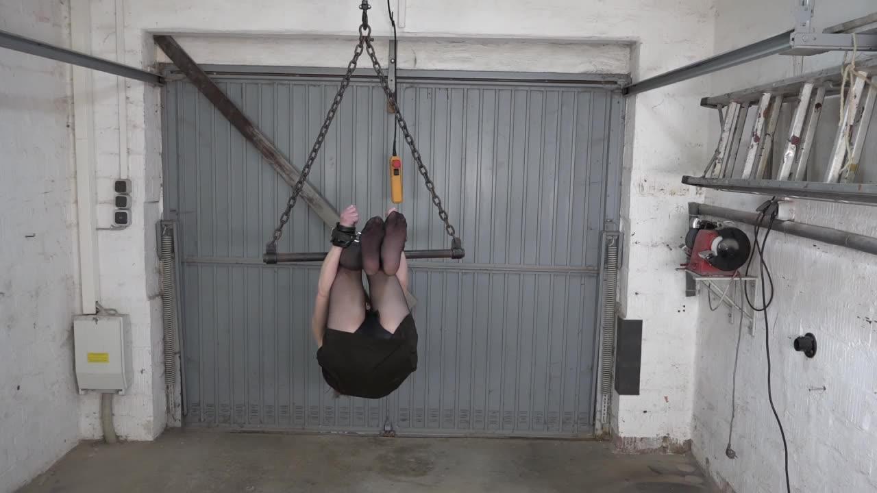 Karina in the garage