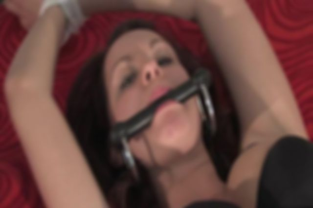 TINDRA STRETCH TIED IN BED AND BIT-GAGGED
