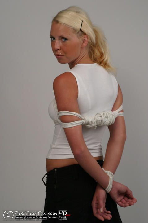 Paula tied up in the studio - 1