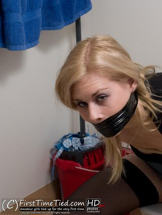 Donna tied up naked in the bathroom - 2