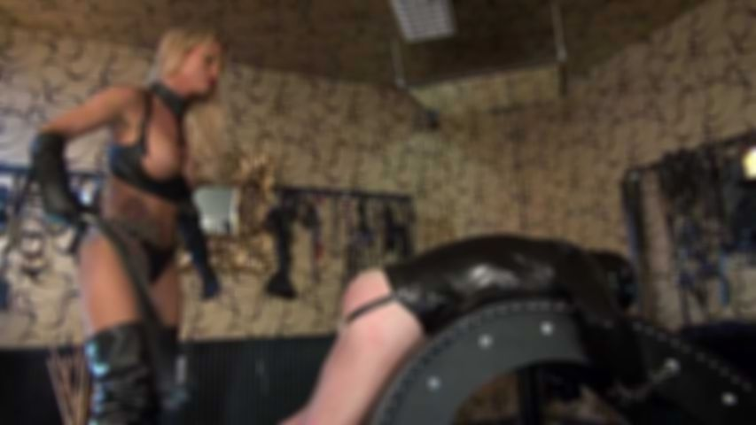 Whipping Slave in Dungeon
